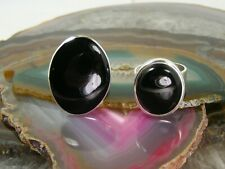 2p Ring Lot Sz 8.5 & 7.5 Big Vintage Ati Mexico Sterling Silver Gothic Onyx