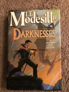 DARKNESS by L.E. Modesitt Jr.  2003 FIRST EDITION hardcover SIGNED BY AUTHOR