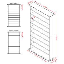 Large CD DVD Media Storage Shelves - PINE - MS0760M