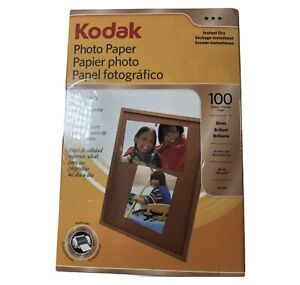 KODAK Photo Paper 100 Sheets Gloss 4 x 6 Inches Instant Dry New Sealed