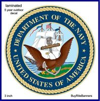 United States Navy Emblem, Decal Sticker. 3 Inch/ Laminated, High Quality
