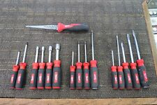 MILWAUKEE SCREWDRIVERS, NUT DRIVERS, SAW LOT 16 PCS