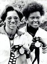 1975 Wire Photo sprinters Chandra Cheeseborough Pamela Jiles Pan American Games