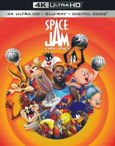 Space Jam: A New Legacy (4K Ultra HD + Blu-ray + Digital), Excellent DVD, Jalyn