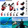 Anti-Fog Full Face Diving Swimming Snorkel mask short fins flippers For GoPro