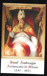 Holy card de San Ambrosio santino image pieuse estampa andachtsbild