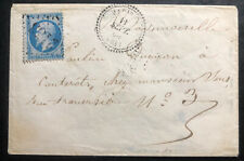 1868 France Vintage Cover To Marseille