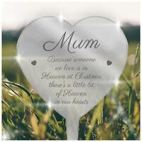 Heart PERSONALISED Remembrance Plaque Xmas Memorial Grave In Loving Memory Mum