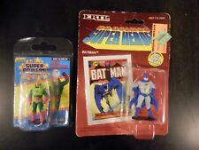 DC COMICS SUPER HEROES FIGURE LOT SUPER POWERS LEX LUTHOR ERTL METAL BATMAN MOC