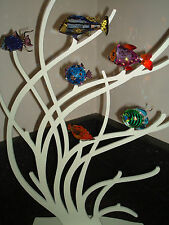 Swarovski Crystal Paradise Large Coral Display Stand Exotic Fish 630999 Retired