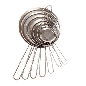 Kitchen Stainless Steel Wire Fine Mesh Strainer Flour Colander Sifter Sieve uqTC