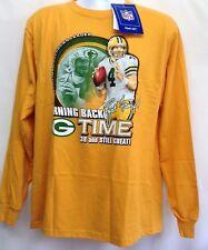 NWT NFL Players Men's Shirt Tee Lg Sleeve BRETT FAVRE All Time Great Reebok  MED