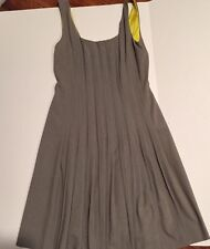 Marc New York Gray A Line Pleated Dress Size 6