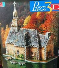 MB Puzz 3D 254 Piece Puzzle Country Church (1997)