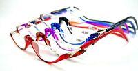 Half Rimless Magnetic Folding Readers Reading Glasses +1.00 ~+3.00 Neck Hang