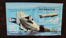 Nicaragua 1984 Luftfahrt Zeppelin Block gestempelt