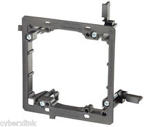 2x Drywall Mounting Bracket Mud Ring 2 Gang Low Voltage Wall Plate Network LV2