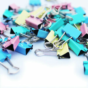 Bulldog Clips Foldback 25/33mm Metal Binder paper Grip Filing Letter Clips Multi