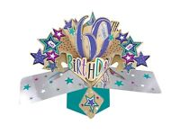 60th Birthday Pop Up Card 3D Pop Up Card Age 60