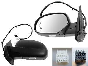 For 07-14 SILVERADO SIERRA Mirror Power Folding Memory Signal Textured Driver LH