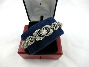 Bracelet platine année 1925 diamants