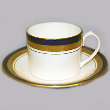 COBALT ROYALE Aynsley Cup & Saucer Can Shape NEW NEVER USED 24kt-Cobalt England