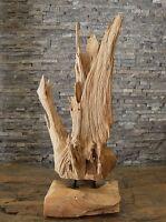Teak Holz Skulptur Holz Wurzel Statue Holzkunst Deko Holzobjekt massiv Ho.1608