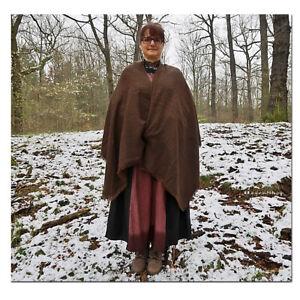 Mittelalter Poncho Frauen / Männer Umhang Überwurf Wikinger Mittelalterkleidung