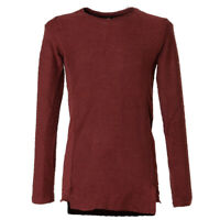 Catch Herren Vintage Slim Fit Pullover Extra Long Bordeaux Rot Gr. S Small