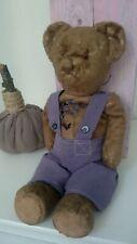 ANTIQUE BEAR Vintage  Teddy Bear Straw Stuffed