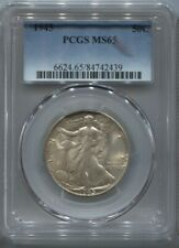 1945 PCGS MS65  WALKING  LIBERTY SILVER HALF DOLLAR 90% SILVER