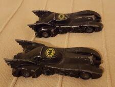 "2x Vintage ERTL Diecast Batman 1989 DC Comics Batmobile Model 2559G 3.5"" Car Toy"