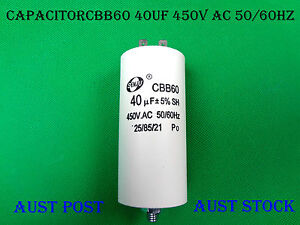 CBB60 Four Pin 40uF AC 450V 50/60Hz 25/85/21 Appliance Motor Capacitor (G40A)