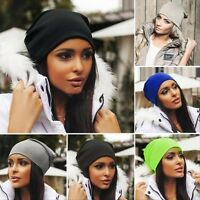 Men Women Winter Warm Knit Ski Crochet Slouch Hat Cap Beanie Hip-Hop Hats