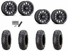 "Method 401 Beadlock 15"" Wheels Rims 4+3 Blk 32"" ITP Ultracross Tires Maverick X3"
