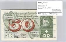 BILLET SUISSE - 50 FRANCS 7-3-1973***