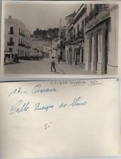 Tarjeta Postal Fotográfica. ARACENA. Huelva. Calle Queipo de Llano.