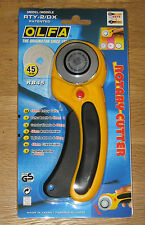 OLFA 45mm Deluxe Rotary Cutter RTY-2/DX Sewing Quilt cuts Fabric Leather Paper