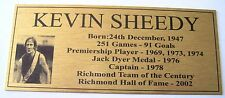 KEVIN SHEEDY Richmond Tribute Plaque Free Postage