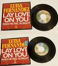 "LUISA FERNANDEZ  "" LAY LOVE ON YOU "" 1977 .WEA WARNER.  COLLECTOR  DISCO !"