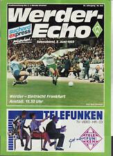 BL 88/89 SV Werder Bremen - Eintracht Frankfurt