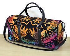 Duffle Sports Bag Unisex Travel Bags Multicolor Tie Dye Elephant Mandala Handbag