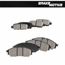 Front And Rear Ceramic Brake Pads with Rubber Shims Fits 350Z 370Z M35 M45 EX35