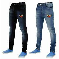 New Mens Skinny Jeans Stretch Slim Fit Denim Pants Trousers Bottoms Sizes 28-40