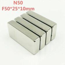 Super Strong Neodymium Magnet N50 50x25x10mm Rare Earth Big Block Powerful New