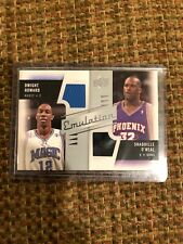 2008-09 UD Emulations Dual Jersey Card - Shaquille O'Neal & Dwight Howard