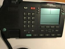✅☎ Nortel Avaya M3904 M-3904 telephone with handset and stand Charcoal