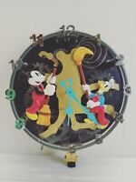 Vintage Disney Mickey Mouse Animated Talking Wall Clock Missing Parts WORKING!