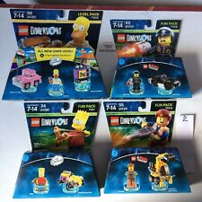 Lot of 4 All Different-LEGO DIMENSIONS FUN PACKS Level Pack NEW SEALED See list
