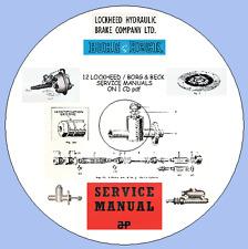 12 LOCKHEED / BORG & BECK  SERVICE MANUALS  ON 1 CD
